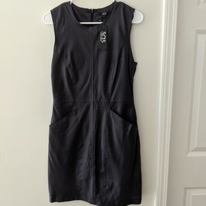 NWT - SAS Leather Dress Midnight Blue Size 4